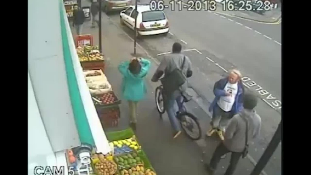 Nigger kills White pedestrian for telling him that cycling on the pavement is dangerous