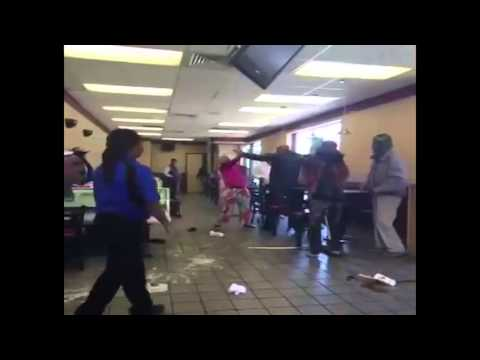 Fight at McDonalds over breakfast menu - Destroying shit is how we do'