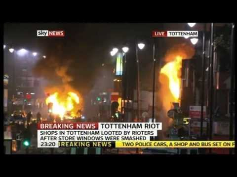 Niggers Riot and Looting in Tottenham London