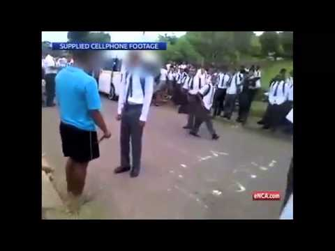 south africa negro knifeman try to stab other negro